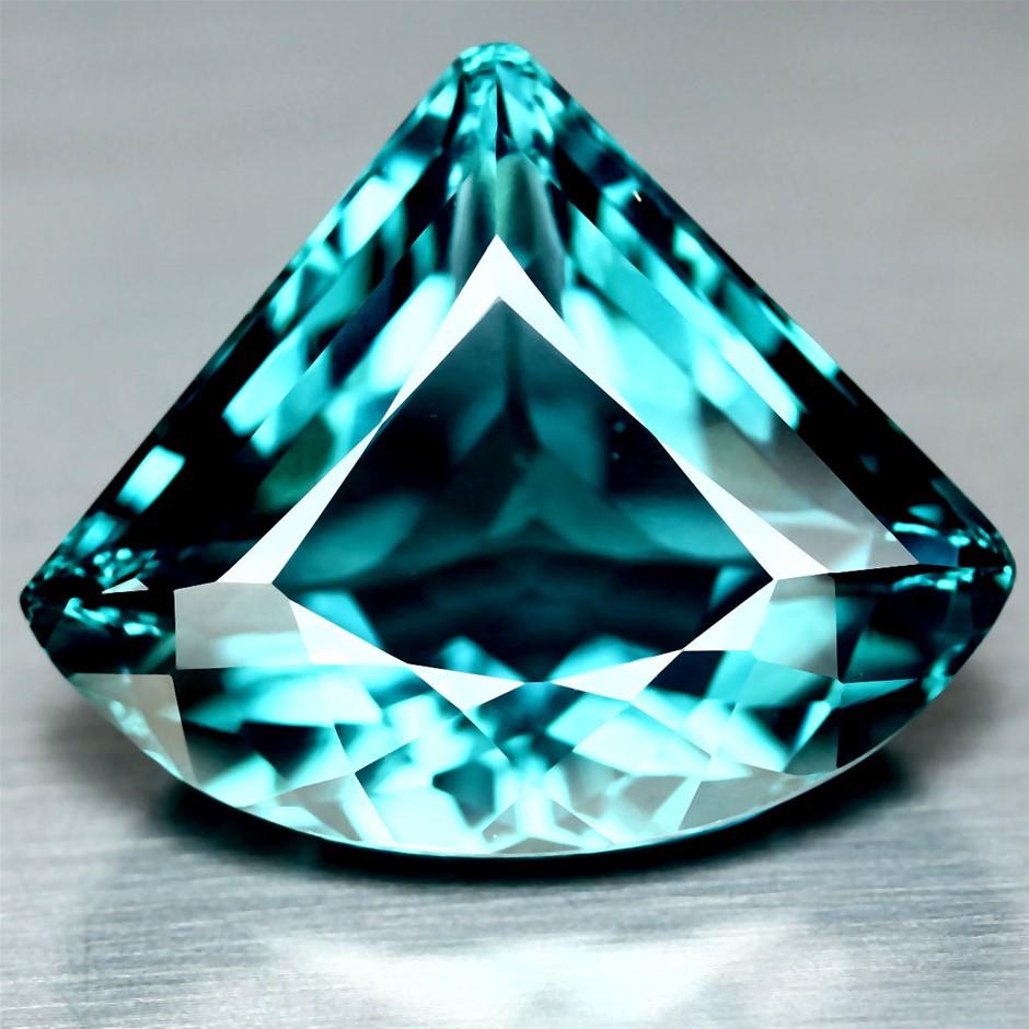42.98Ct Fancy Facet Blue Quartz