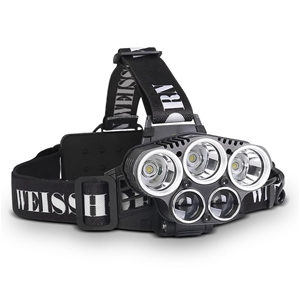 Weisshorn 6 Modes LED Flash Torch Headla