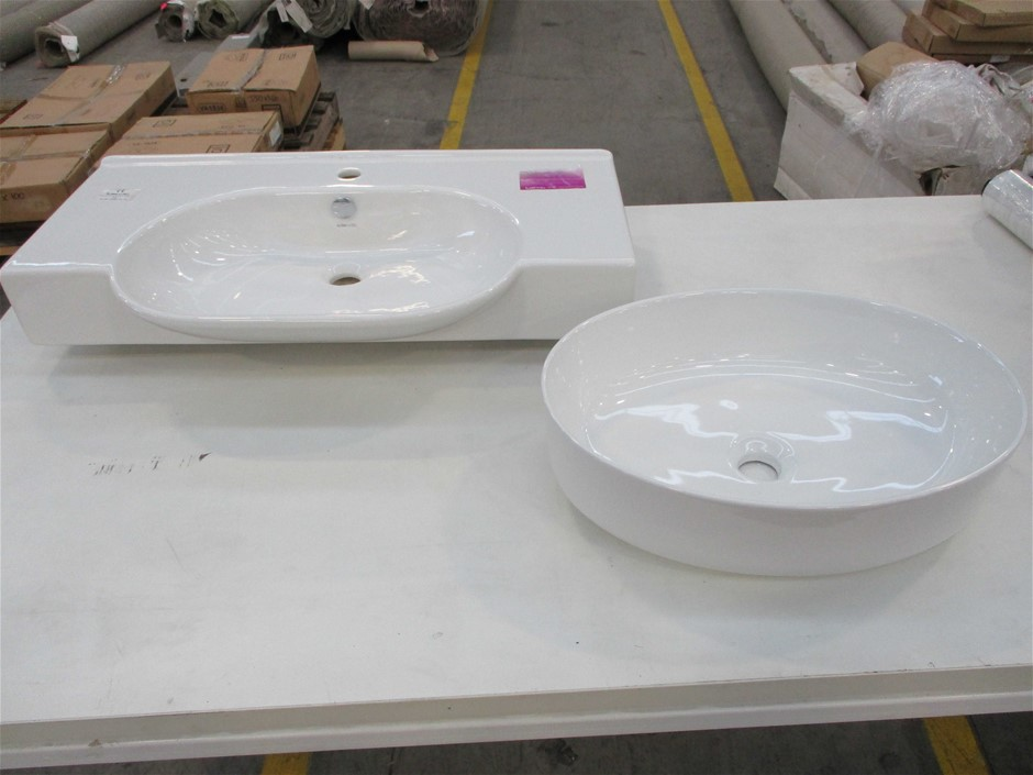 Qty 10 x Assorted Vanity Basin - White
