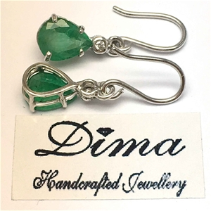 18ct White Gold, 3.62ct Emerald and Diam