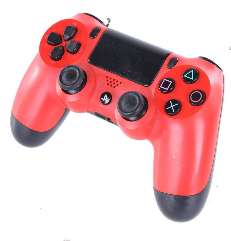SONY PS4 Dual Shock 4 Wireless Controller, Magma Red. N.B. Some marks and s
