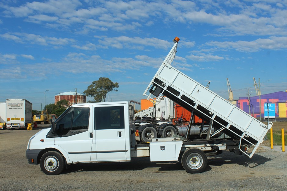 2013 Ford Transit Turbo Diesel Tipper Dual Cab Truck 121,642km (EX Gov)