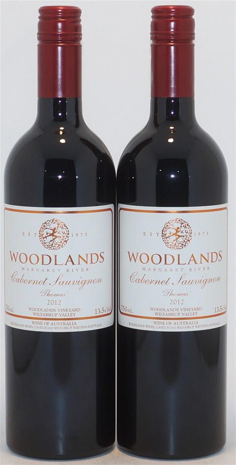 Woodlands `Thomas` Cabernet Sauvignon 2012 (2x 750mL), Margaret River.