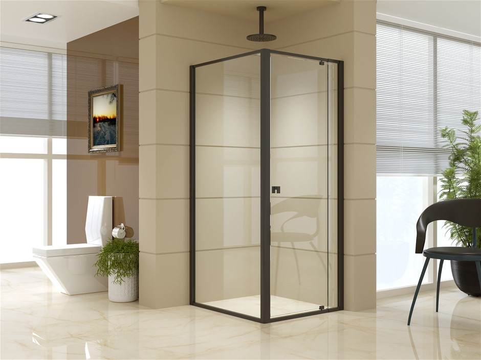Semi Frameless Shower Screen (74~82)x 195cm & (89~92)x 195cm