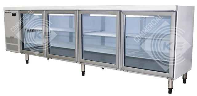 SKOPE SLIMLINE UNDERCOUNTER FOUR GLASS FRIDGE, QUALITY COMMERCIAL K
