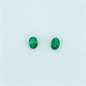 0.82 Ct - Oval Cut Pair of Natural Emera