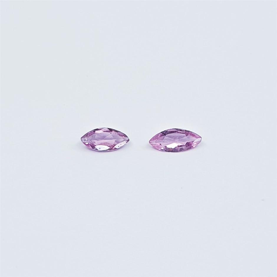 0.33 ct - 2 Pcs Marquise Cut Pink Tourmaline