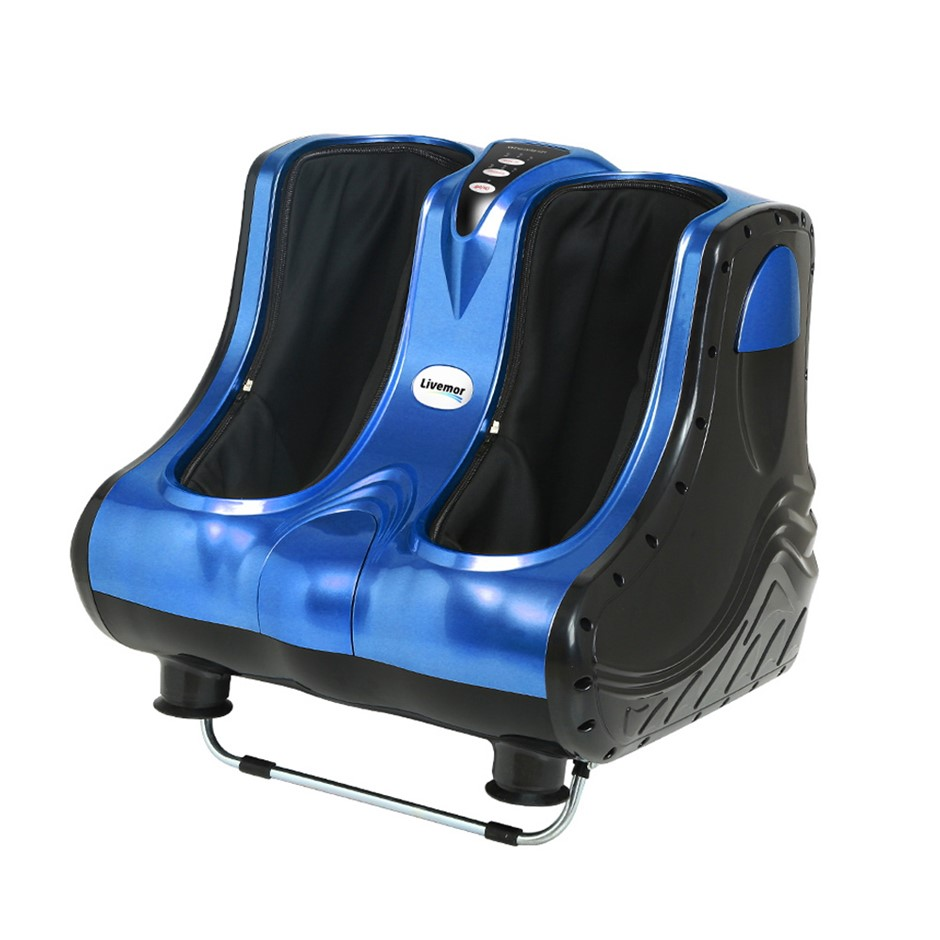 Livemor 3D Foot Massager Roller Machine Shiatsu Kneading Blue