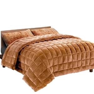 Giselle Bedding Faux Mink Quilt Comforte