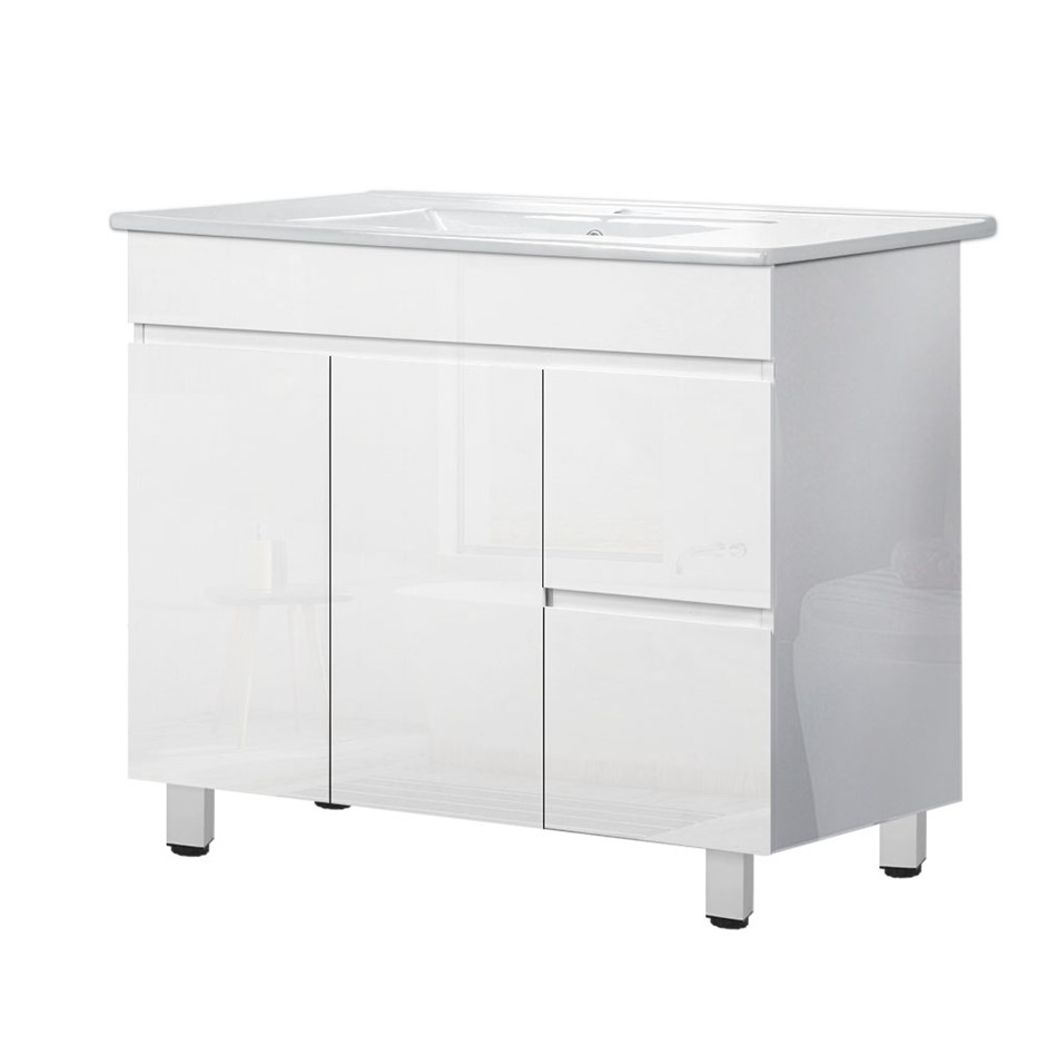 Cefito Bathroom Vanity Cabinet Unit Wash Basin Freestanding 900mm White