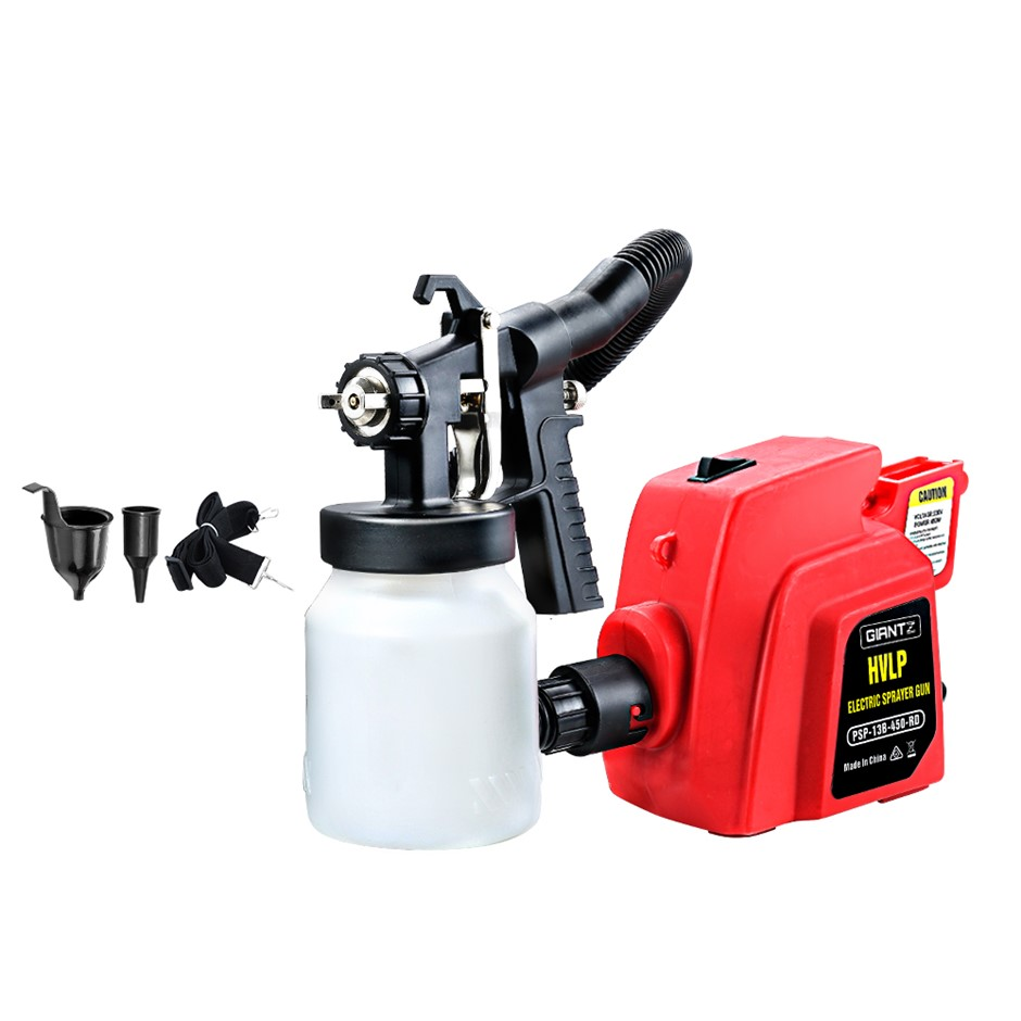NEW GIANTZ 3-Way Nozzle Elec Paint Sprayer Gun HVLP DIY Spray Station 450W