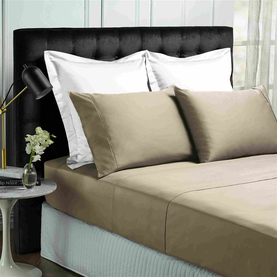 Park Avenue 500 Thread count Cotton Bamboo Sheet Set - Queen - Pewter