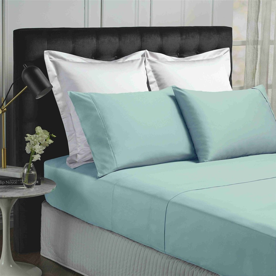 Park Avenue 500 Thread count Cotton Bamboo Sheet Set - King - Blue Fog