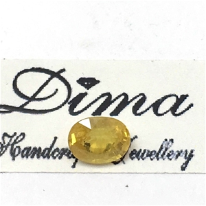 One Stone Yellow Sapphire Oval 1.61ct