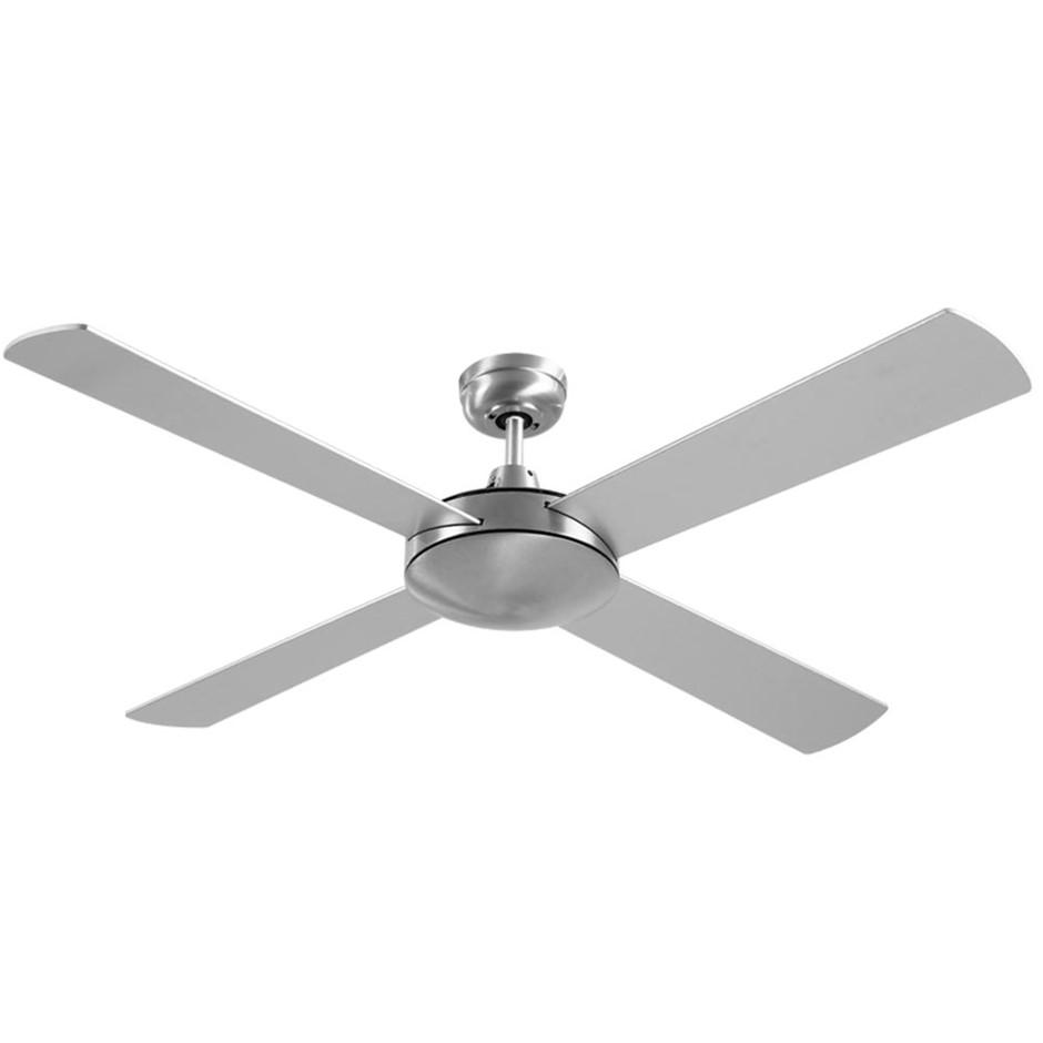Devanti 52'' 1300mm Ceiling Fan Brushed Aluminium 4 Blades Wall Controller