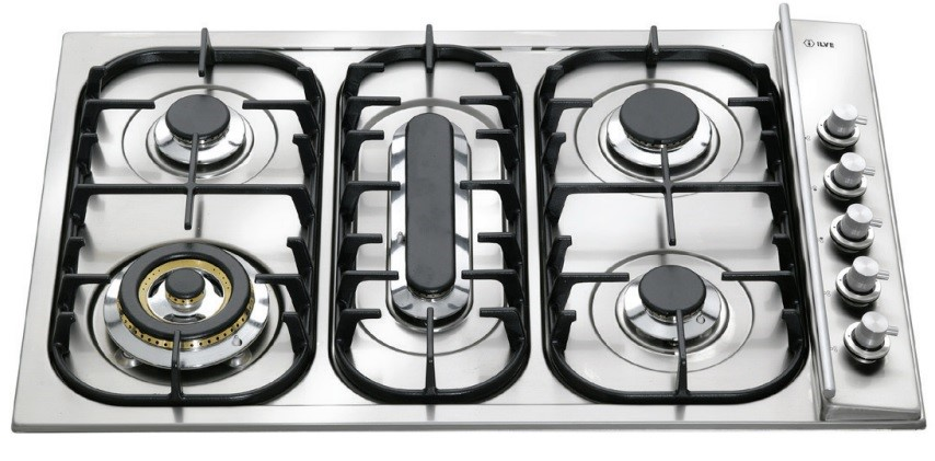 Ilve 78cm Stainless Steel Gas Cooktop (H38PCX)