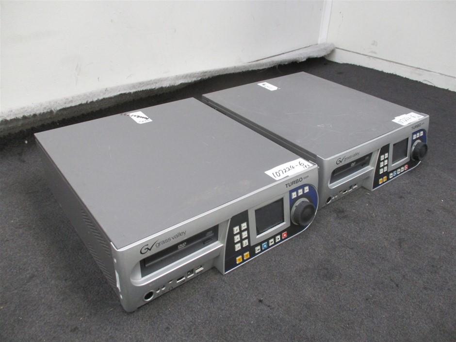 Qty 2 x Grass Valley Turbo IDDR Digital Disk Recorders