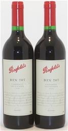 Penfolds `Bin 707` Cabernet Sauvignon 1999 (2 x 750mL) 5 Star Prov