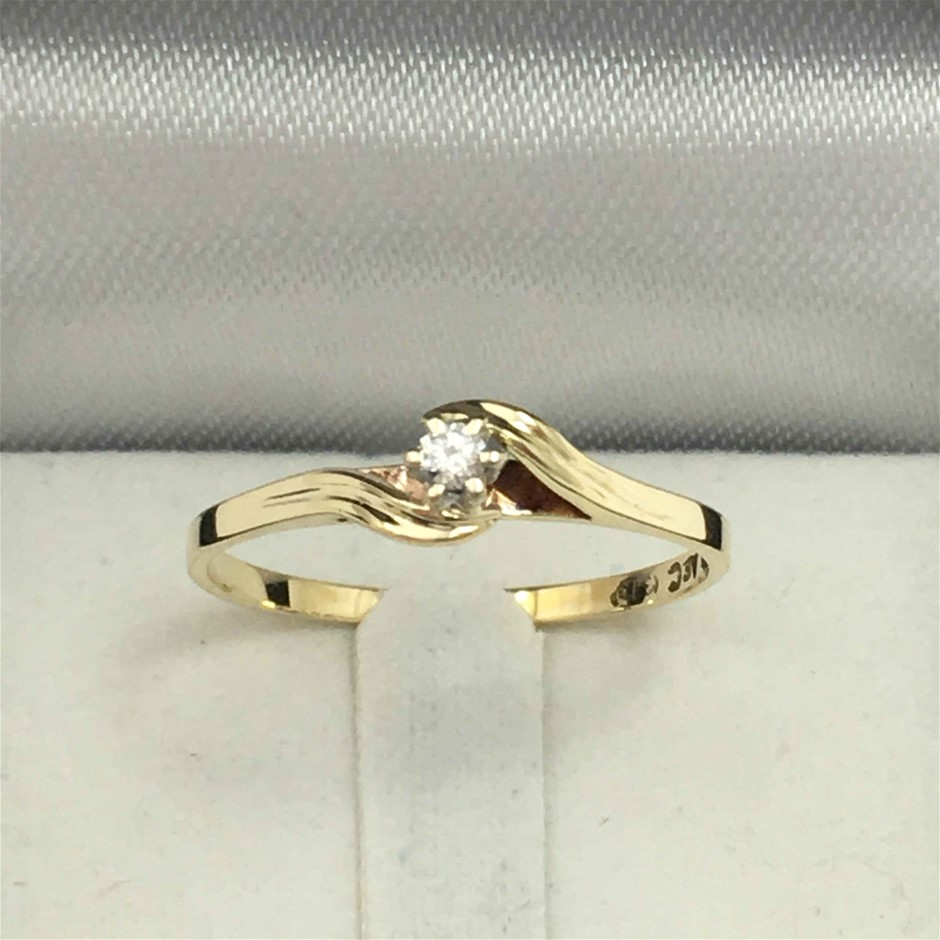 9ct 2 Tone Gold, 1.10g Diamond Ring