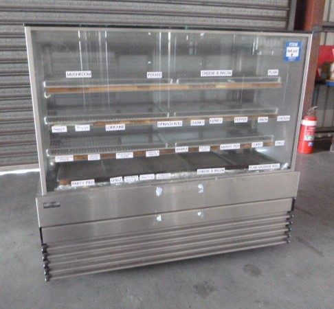 Koldtech SQHCD-15-4T Square Glass Heated Food Display