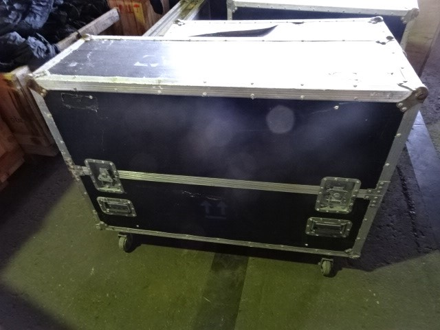 Rolling Hard Case on castors with a 42 Inch TV