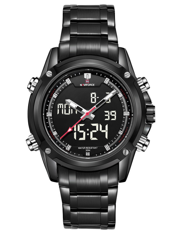 NAVIFORCE Men Classic SS Analog/Digital Seiko Movement Watch SBW-NF9050