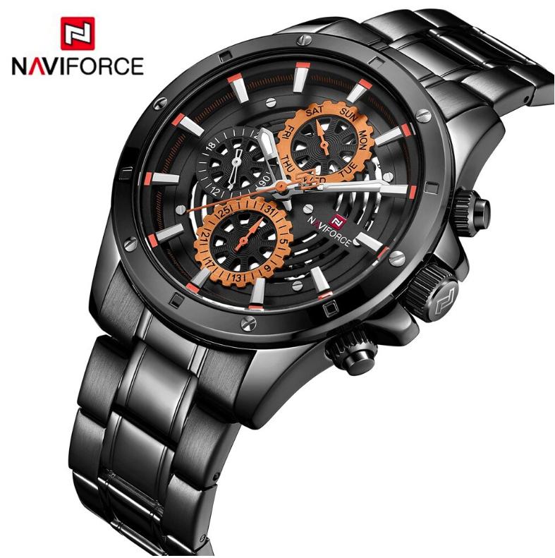 NAVIFORCE Men Luxury, Fashion & Business Chronograph SS Wristwatch