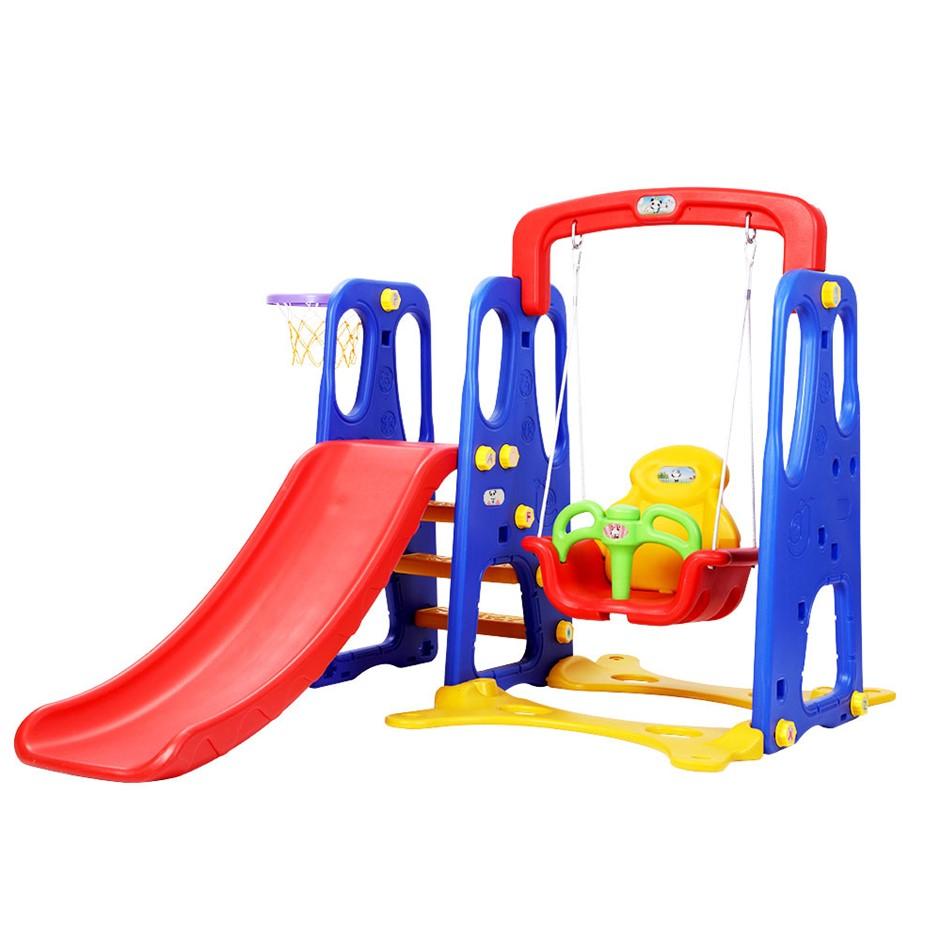 Keezi Kids Slide Swing Basketball Hoop Playground Play slides