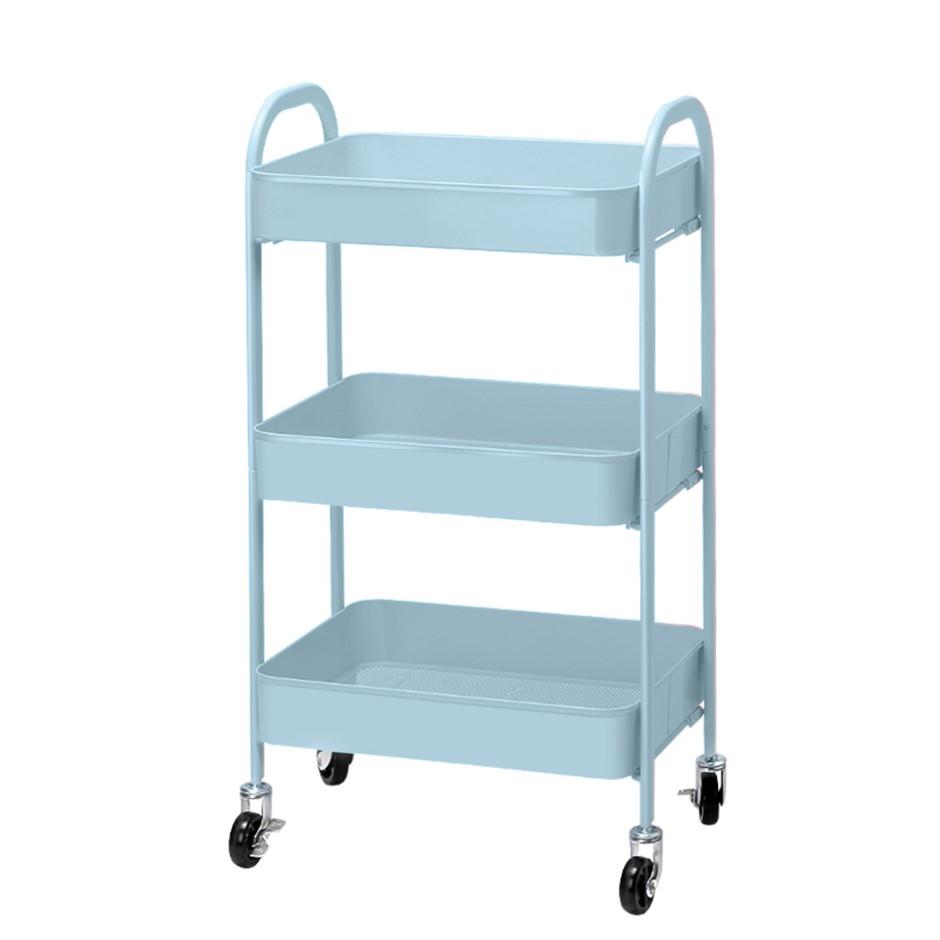 Artiss Kitchen Storage Cart Portable Trolley Rolling Shelf Wheels Office