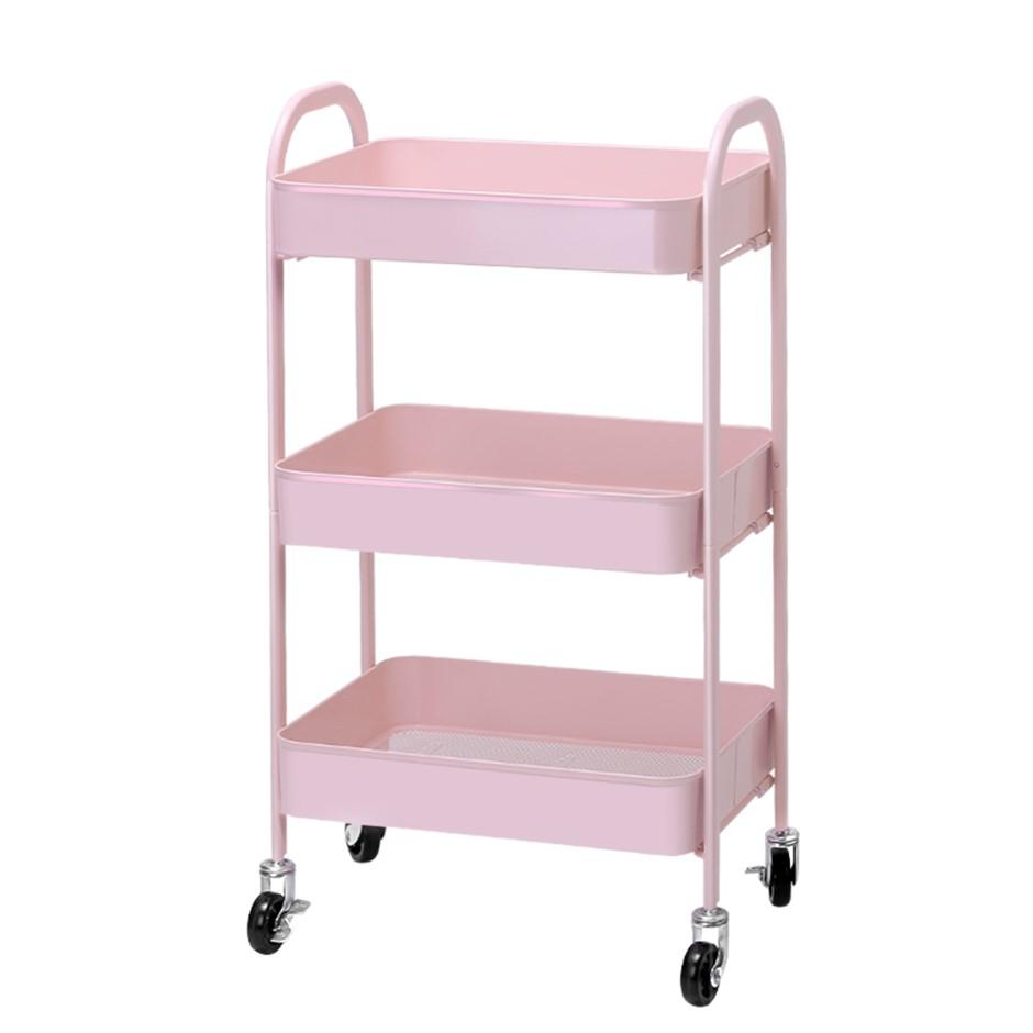 Artiss 3 Tier Kitchen Trolley Storage Cart Portable Rolling Shelf Organiser