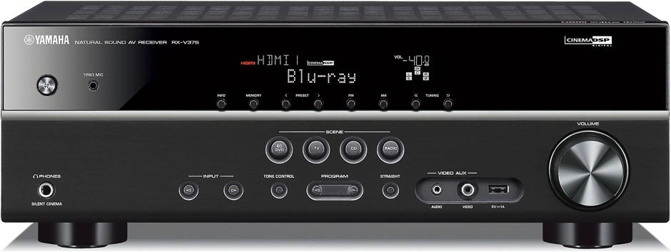 Yamaha RX-V375 5.1 Channel AV Receiver (Black)