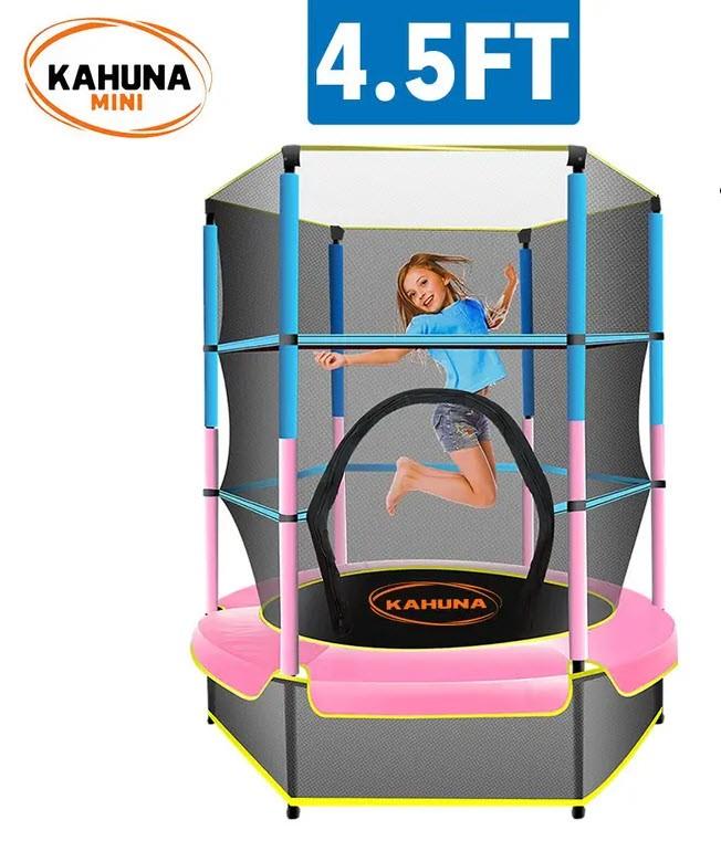 Kahuna Mini 4.5 ft Trampoline - Blue Pink
