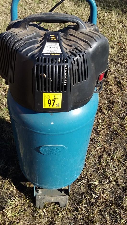 Air compressor, Serial number 13/23444, 240V