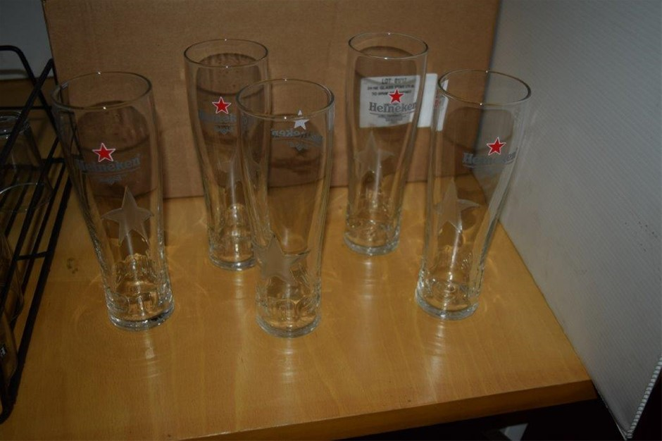 Lot of Assorted Beer Glasses