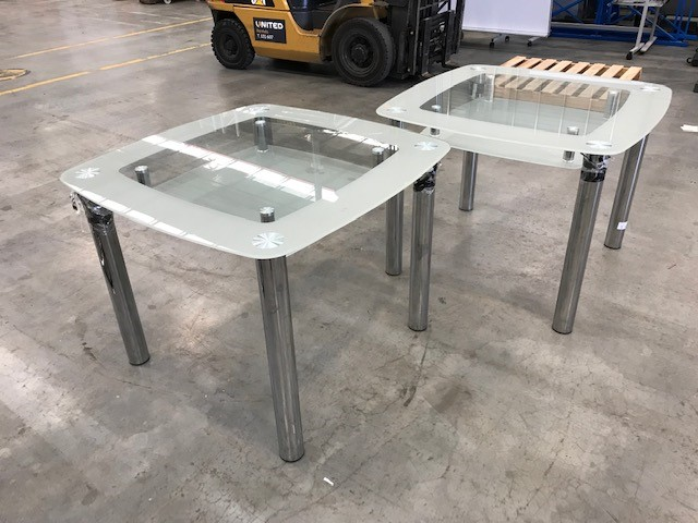 2 x Glass Tables