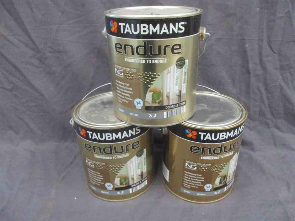 Qty 3 x Taubmans Endure 2 L Tin Paint