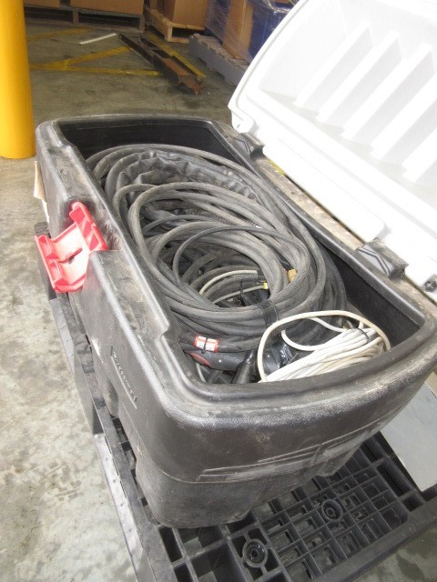 1x Storage box of Welding Guns and Leads
