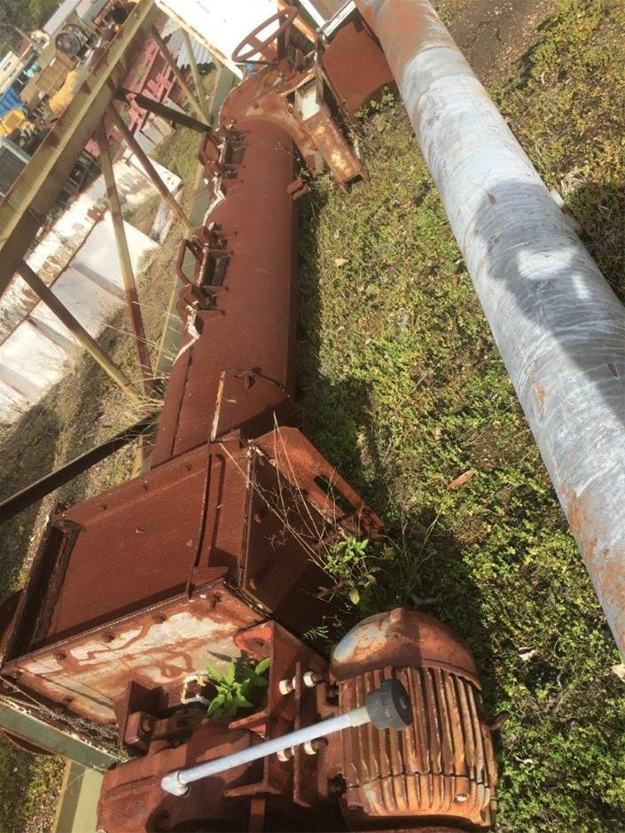 Screw Conveyor - Approx. 400mm dia x 3.5m Long