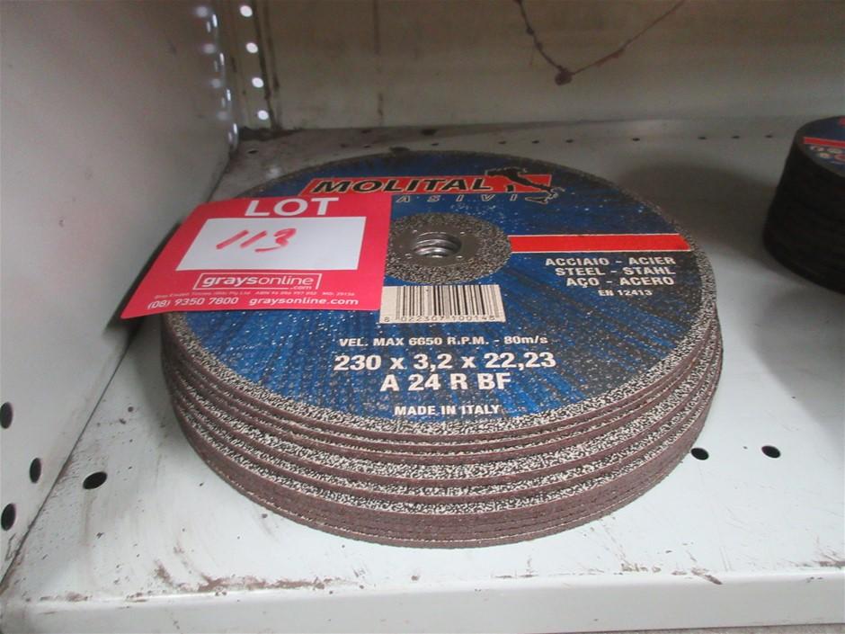 10x Molital 230mm Cutting Discs