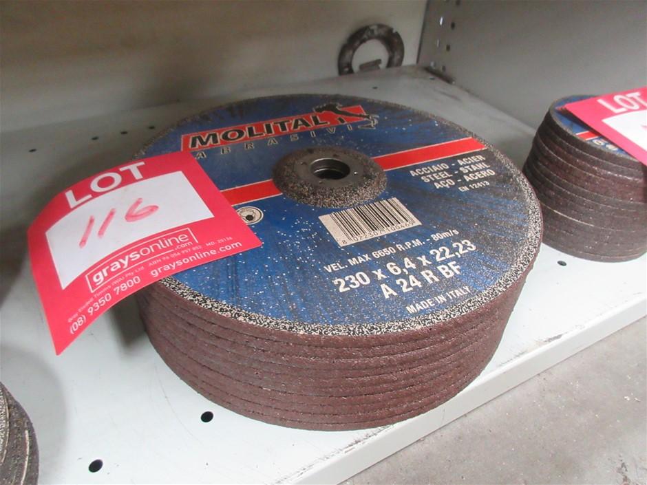 10x Molital 230mm Grinding Discs