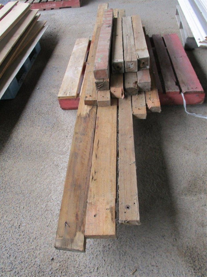 Pallet of Timber Posts