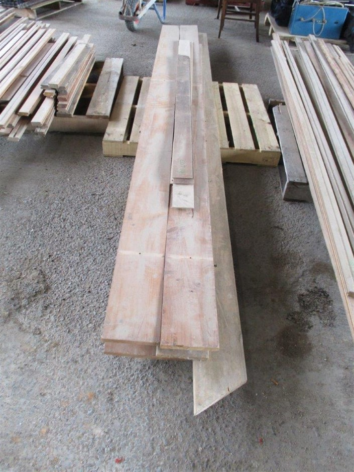 Pallet with Pine Timber