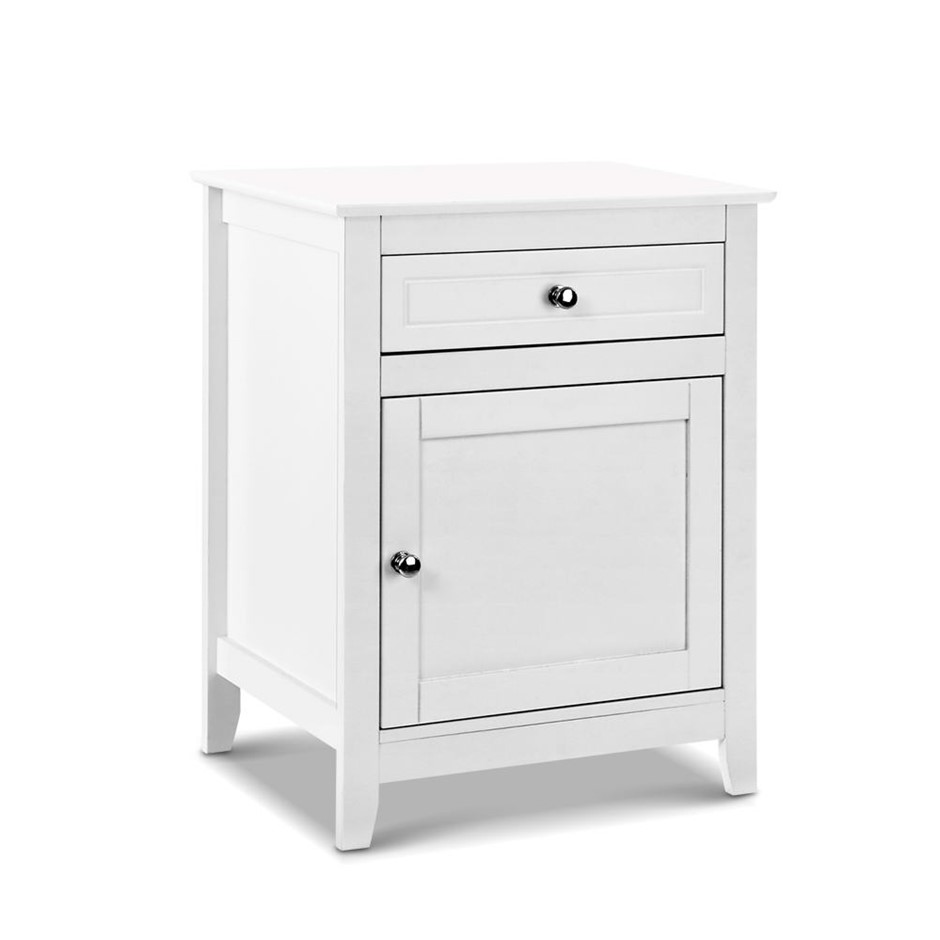 Artiss Bedside Tables Big Storage Drawers Cabinet Nightstand Chest White