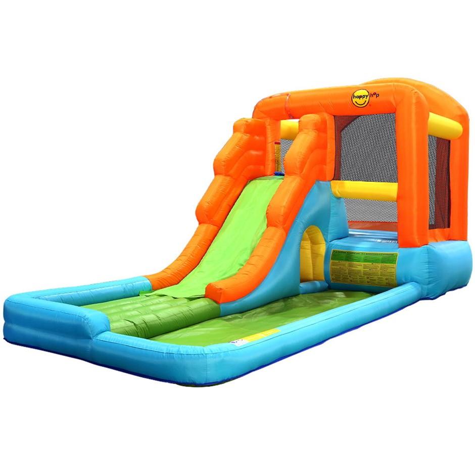 Happy Hop Inflatable Water Slide Water Park Jumping Castle Waterslide