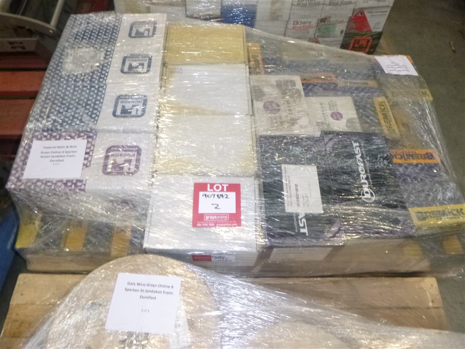 Pallet Of Imperial Nuts And Bolts