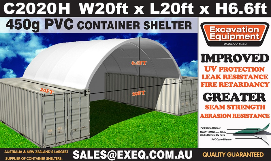 2019 Unused Heavy duty 20ft Container Shelter with end wall, Model: C2020H