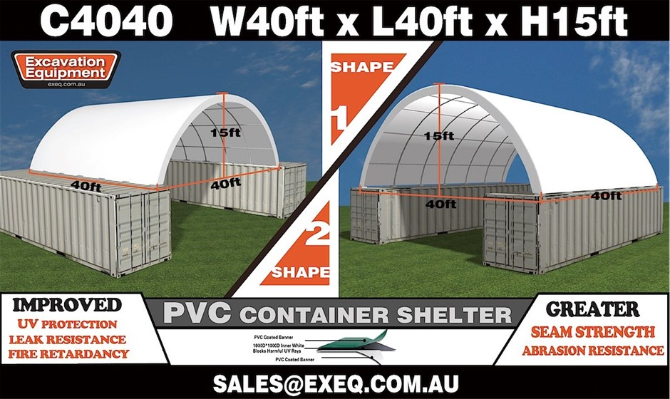 2019 Unused Heavy duty 40ft Container Shelter, Model: C4040