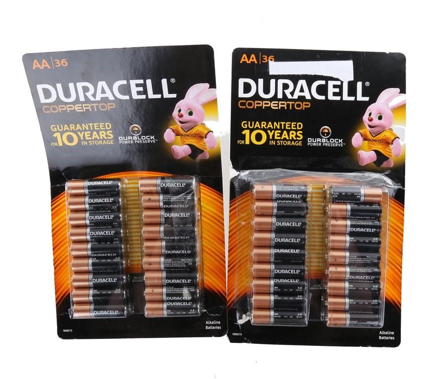 2 x Packs of 36 DURACELL AA Batteries. N.B. Damage package. (264551-273)