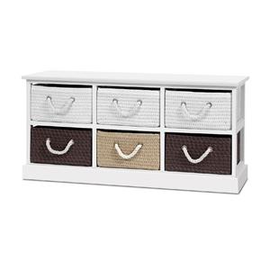 Artiss Storage Bench Shoe Organiser 6 Dr