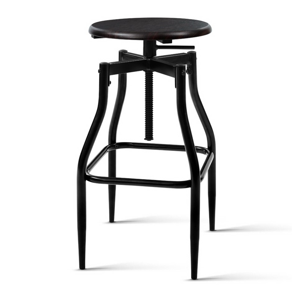 Artiss 2 x Vintage Kitchen Bar Stools Swivel Industrial Retro Rustic